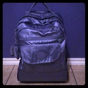 Kipling Metallic Purple backpack